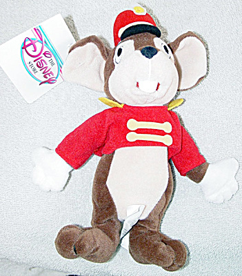 Disney Store Standing Timothy Mouse Bean Bag Plush