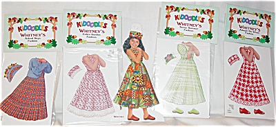 Peck Aubry Whitney Kidoodles Paper Doll Set 1997