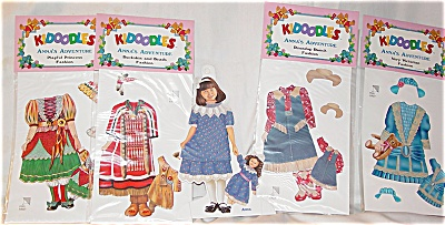 Peck Aubry Anna's Adventure Kidoodles Paper Doll Set