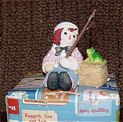 Enesco Fishing Raggedy Andy Figurine