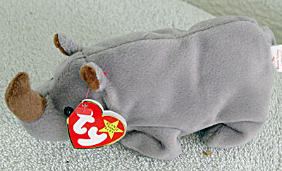 Ty Spike The Rhino Beanie Baby 1996-1998