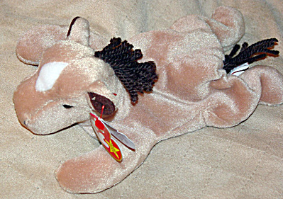 Ty Derby The Tan Horse With Coarse Mane Beanie Baby 1997-1998