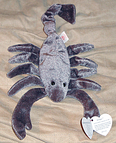 Ty Stinger The Scorpion Beanie Baby 1998