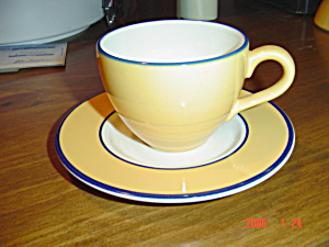 Pagnossin Spa Orange Cups/saucers Green Verge