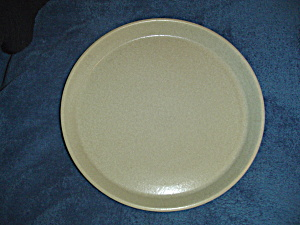 Vintage Crate & Barrel Tan/beige Speckled Stackable Dinner Plates