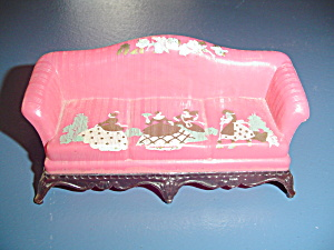 Vintage Renwal Pink Couch Doll Furniture - Stencils