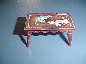 Vintage Renwal Coffee Table Doll Furniture - Stenciled