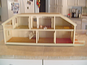 Village Lundby 2 Story Electric Doll House 36 In. Long