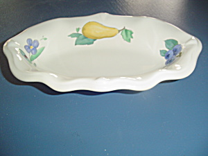 Pfaltzgraff Summer Garden Sculpted Relish Fluted Dish