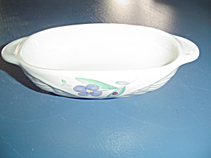 Pfaltzgraff Summer Garden Small Basket Relish Dish