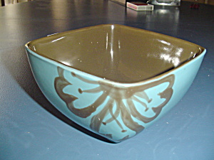 Pier 1 Hibiscus Square Cereal Bowl