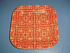 Noble Excellence Madrid Square Salad Plates Red And Gold