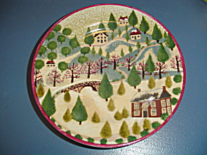 Block Country Village By Gear Salad Plate Style 3