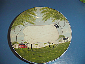 Sakura William Kimble Animal Collection Sheep Salad Plate