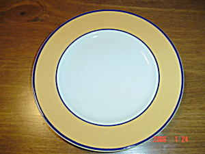 Pagnossin Spa Bright Yellow Blue Verge Salad Plates