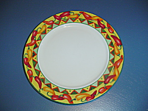 American Atelier Chili Peppers Dinner Plates