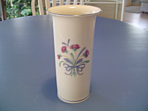 Lenox Poppies On Blue Vase Or Utensil Holder