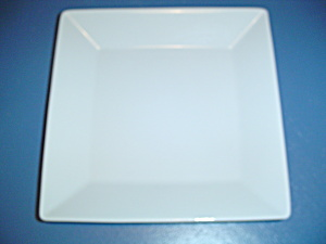 Pier 1 Quadrado Square White Dinner Plates