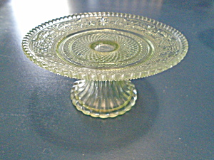 Light Green Sandwich Glass Tier Maker Unknown Beautiful