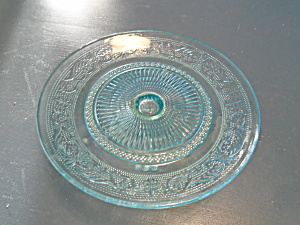 Light Aqua Blue Sandwich Glass Tier Maker Unknown Beautiful