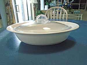 Corning Ware White Flora Oval Covered Casserole