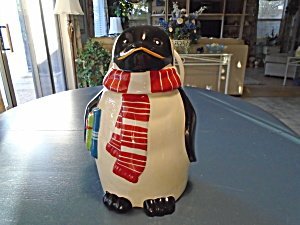 Nonni Penquin Christmas Cookie Jar