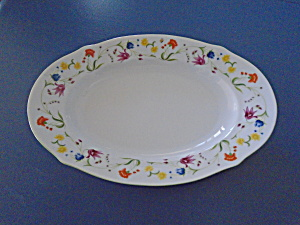 Denby Tea Party Oval Platter Made In Portugal