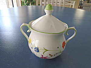 Denby Tea Party Covered Sugar Bowl Vintage