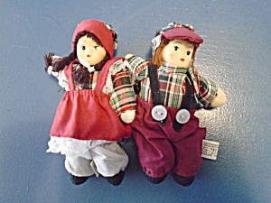 Springford Boy And Girl 5 In. Dolls Cute And Mint