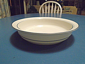 Lenox Chinastone Blue Pattern Round Serving Bowl
