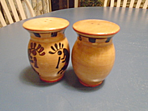 Ack Kokopelli Hand Painted Casa Vero Salt/pepper Shakers