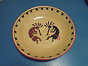 Ack Kokopelli Hand Painted Casa Vero Large Salad Bowl