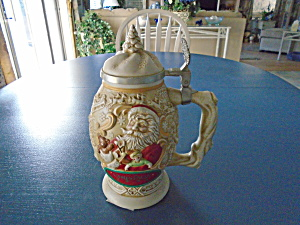Avon Stoneware Numbered Beer Stein Father Christmas