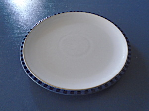 Denby Reflex Lunch/salad Plates White/blue