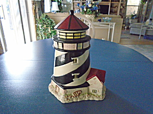Ceramic Light House Lighthouse Cookie Jar
