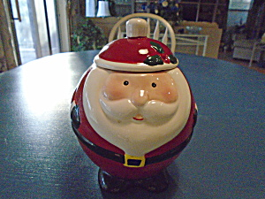 Santa Claus Small Cookie Jar Or Candy Dish