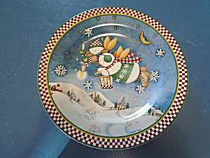 Snow Angel Village Salad Plate Debbie Mumm Style 3