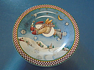 Snow Angel Village Salad Plate Debbie Mumm Style 1
