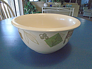 Corning Corelle Large Mixing Bowl Textured Leaves 3 Qt.