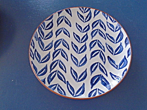 Noble Excellence Mykonos Terracotta Blue Salad Plate Style 5