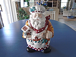 Lilian Vernon Santa Chef Cookie Jar