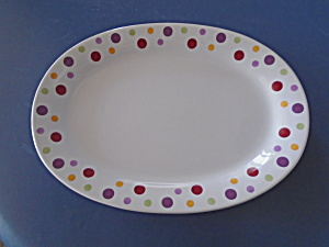 Pampered Chef Dots Oval Platter