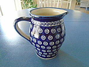 Boleslawiec A174 Milk Jug/creamer/serving Pitcher Mint