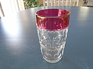 Vintage Kings Crown Cranberry 5.5 In. Highball Glasses