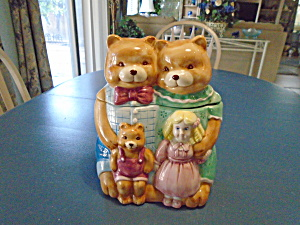 Home Collection 3 Bears And Goldilocks Cookie Jar