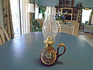 Hurricane Oil Lamp - Signed Claybilly