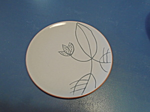 Williams Sonoma Molde Portugal Terra Cotta & Gray Lunch/salad Plate