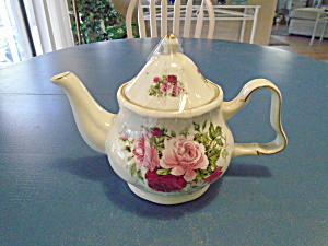 Baum Bros. Formalities Tea Pot W/roses Beautiful Bau9