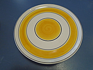 Footed-cake-plate-made-in-portugal-orange-yellow-white