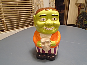 Halloween Kitchen Worthy Monster Cookie Jar